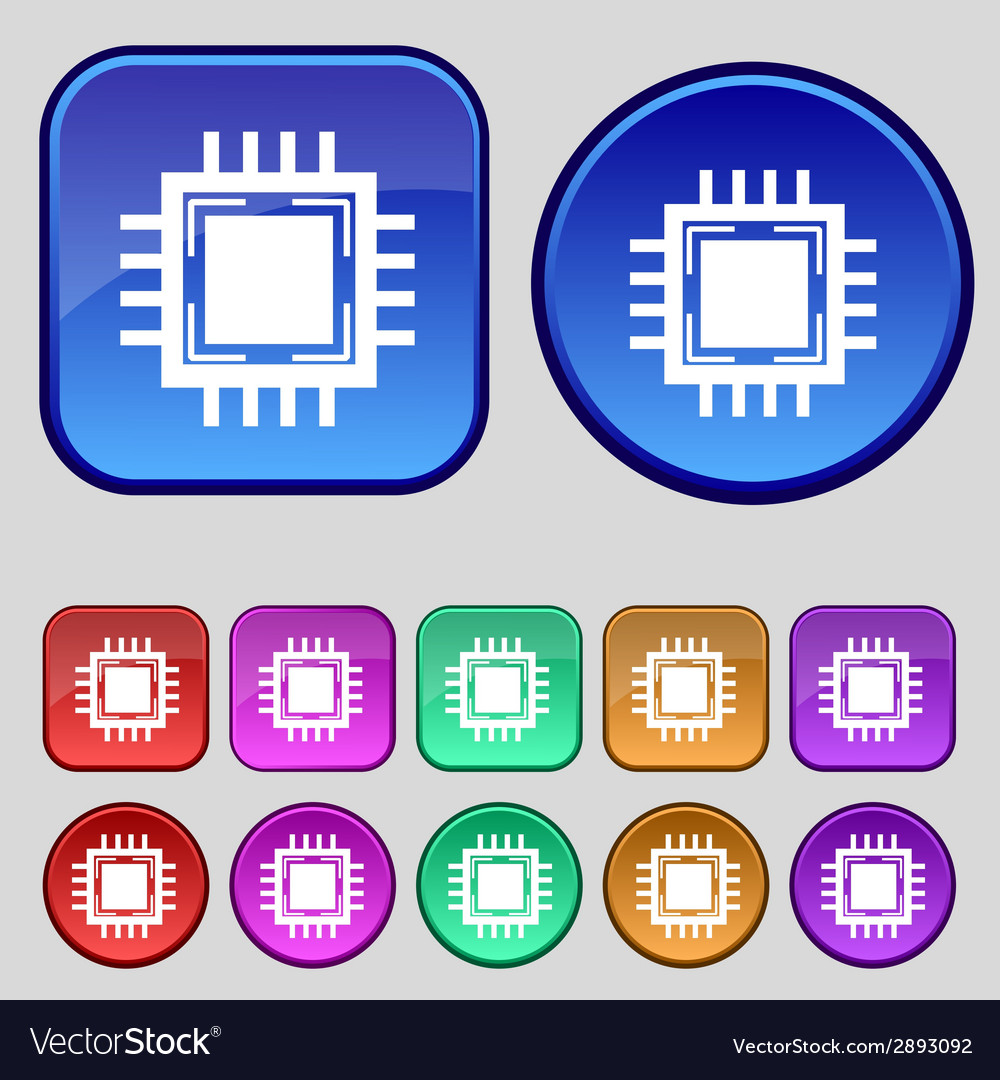 Central processing unit icon technology scheme vector | Price: 1 Credit (USD $1)