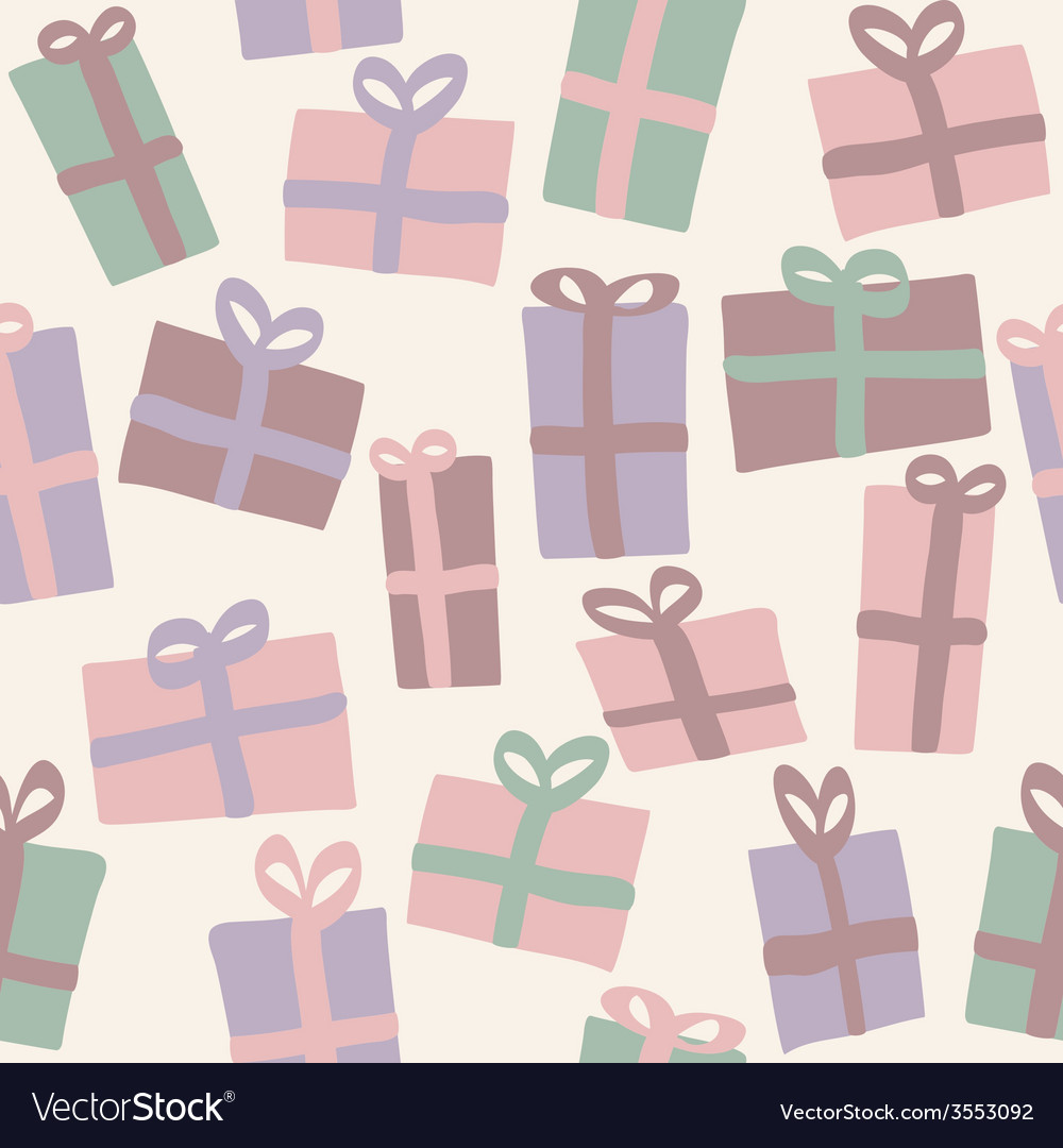 Christmas presents seamless pattern vector | Price: 1 Credit (USD $1)
