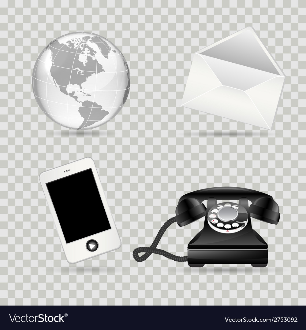 Communication icon set vector | Price: 1 Credit (USD $1)