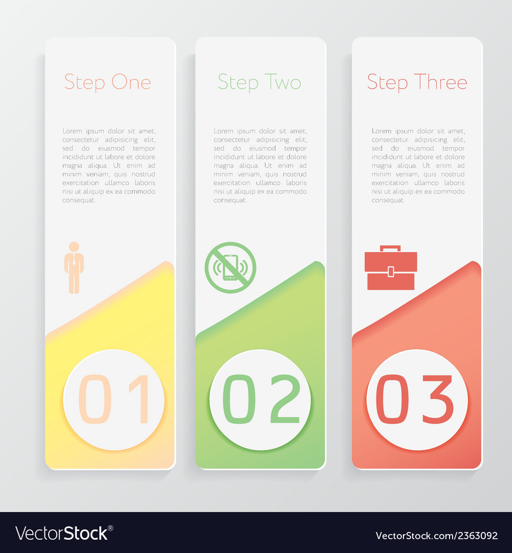 Design number banners template website layout vector | Price: 1 Credit (USD $1)