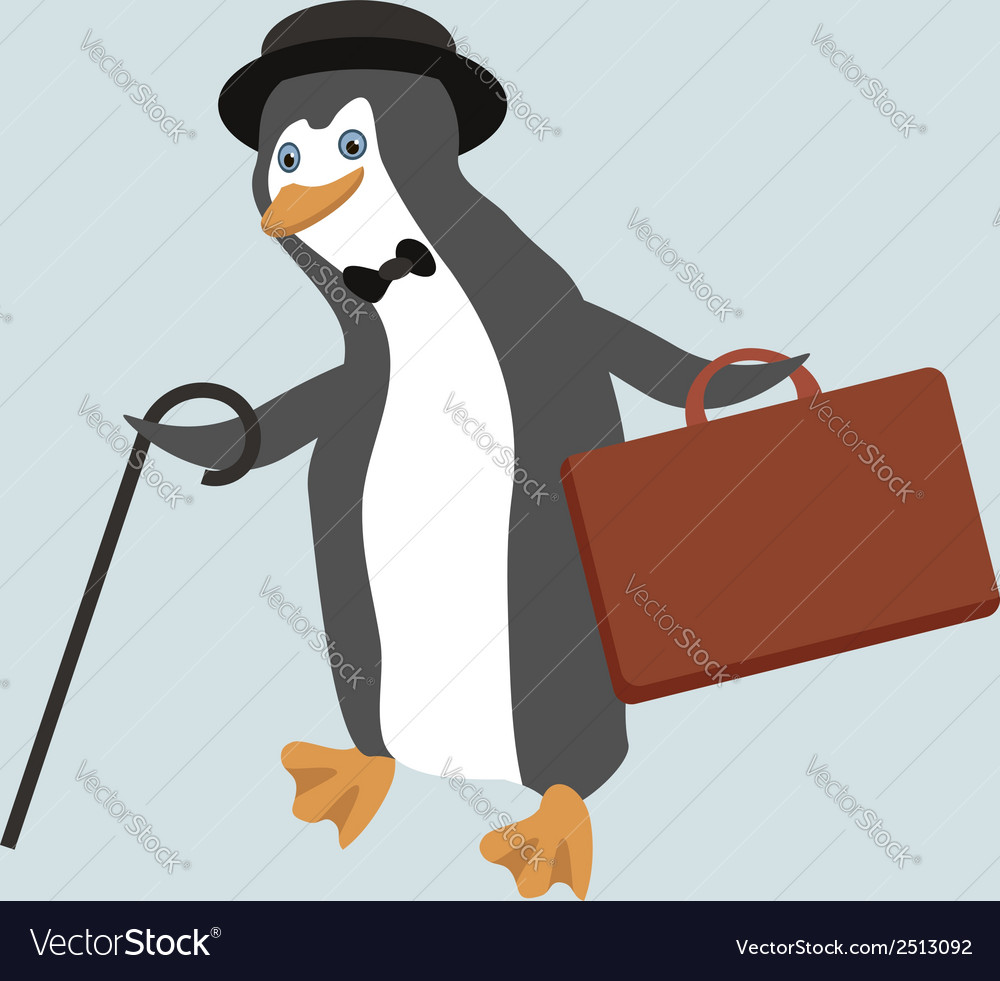 Funny penguin character vector | Price: 1 Credit (USD $1)