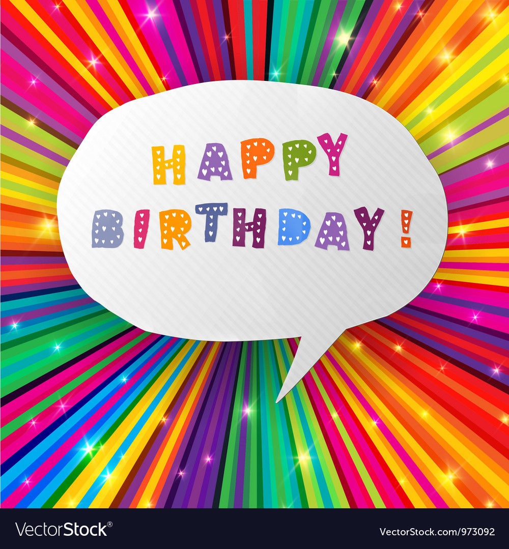 Happy birthday card colorful vector | Price: 1 Credit (USD $1)