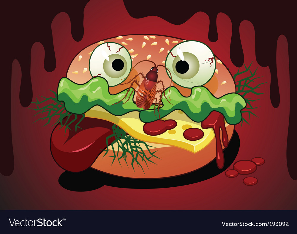 Horrible meal vector | Price: 1 Credit (USD $1)