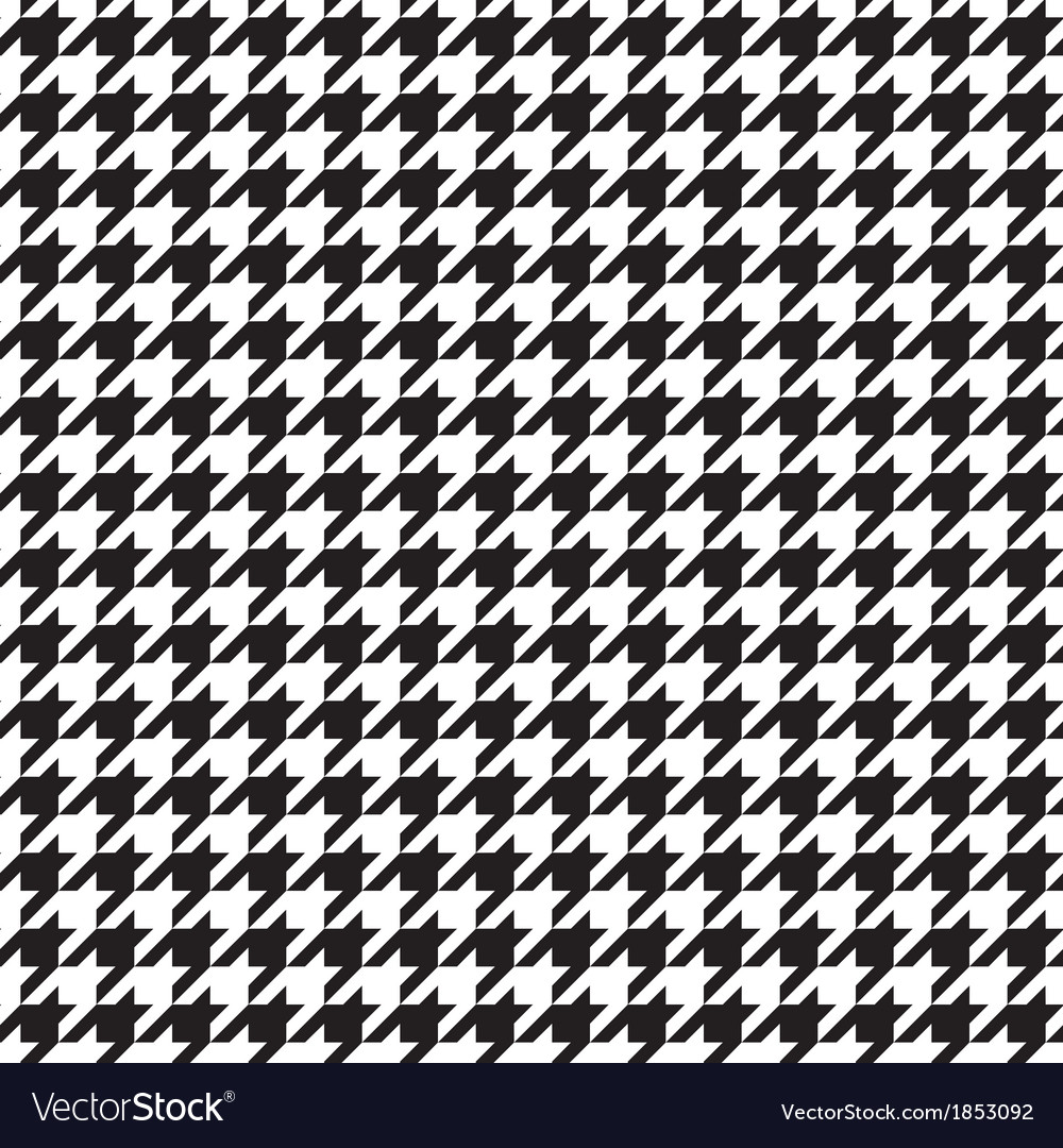 Houndstooth seamless black and white pattern vector | Price: 1 Credit (USD $1)