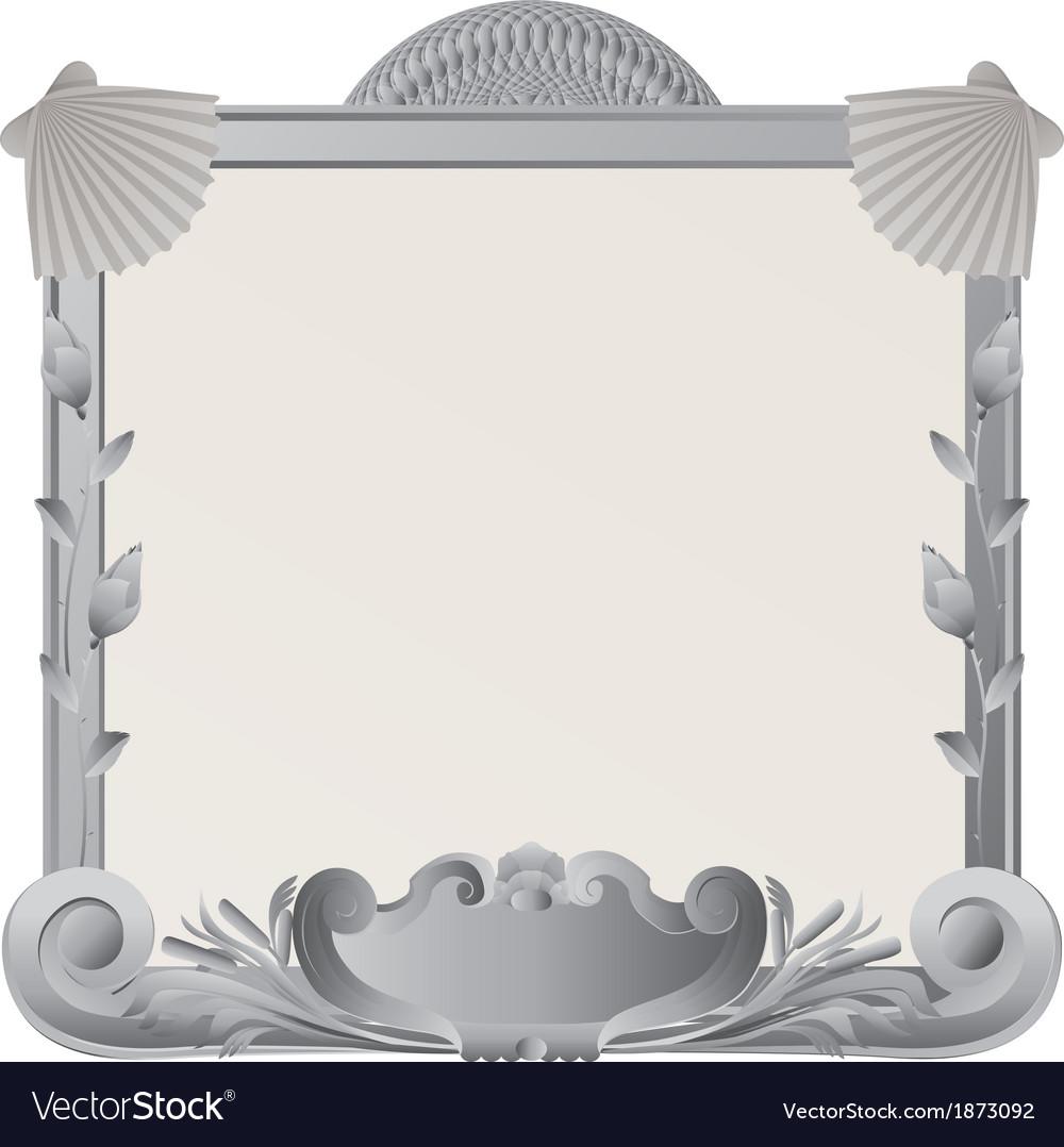 Ornamental stone frame vector | Price: 1 Credit (USD $1)