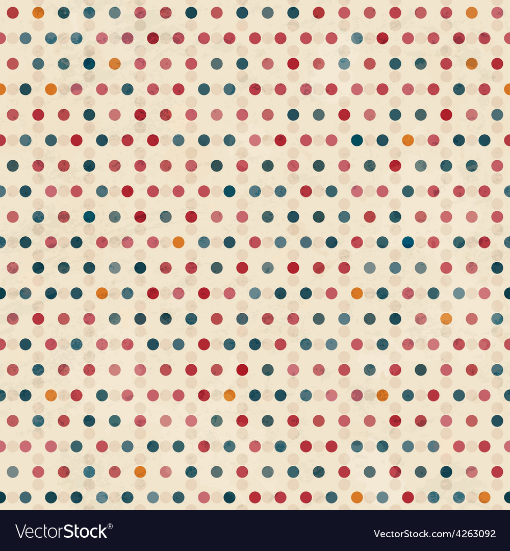 Point seamless pattern with grunge effect vector | Price: 1 Credit (USD $1)