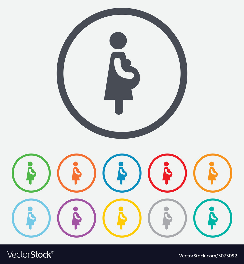 Pregnant sign icon pregnancy symbol vector | Price: 1 Credit (USD $1)