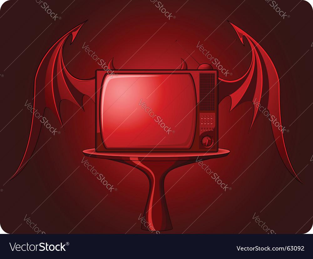 Retro tv image vector | Price: 1 Credit (USD $1)