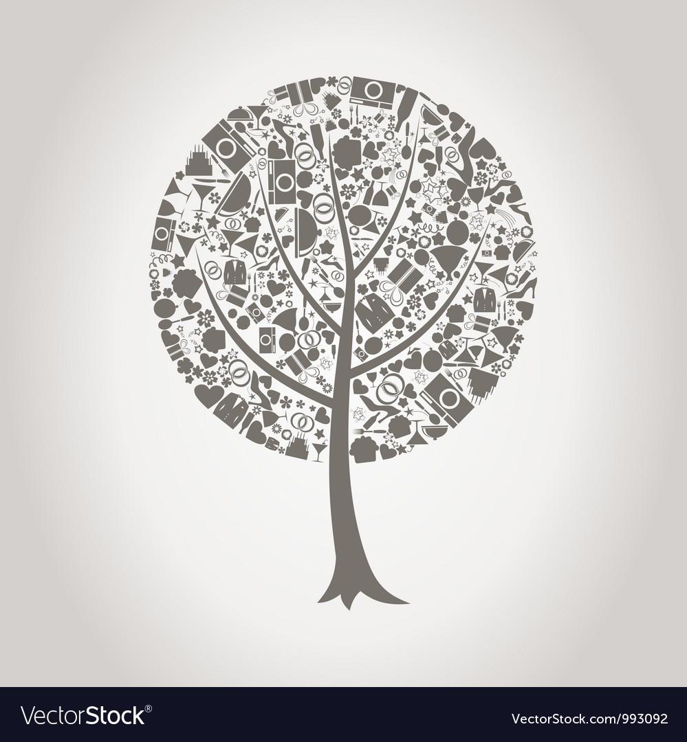 Tree wedding vector | Price: 1 Credit (USD $1)