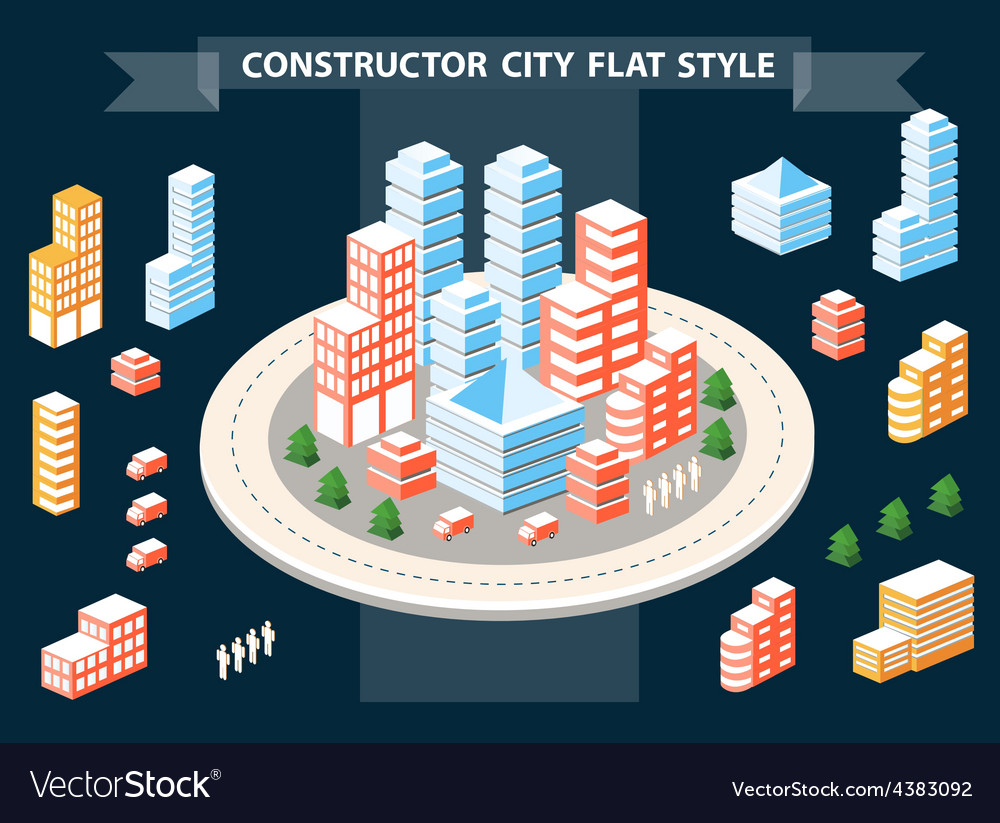Urban constructor vector
