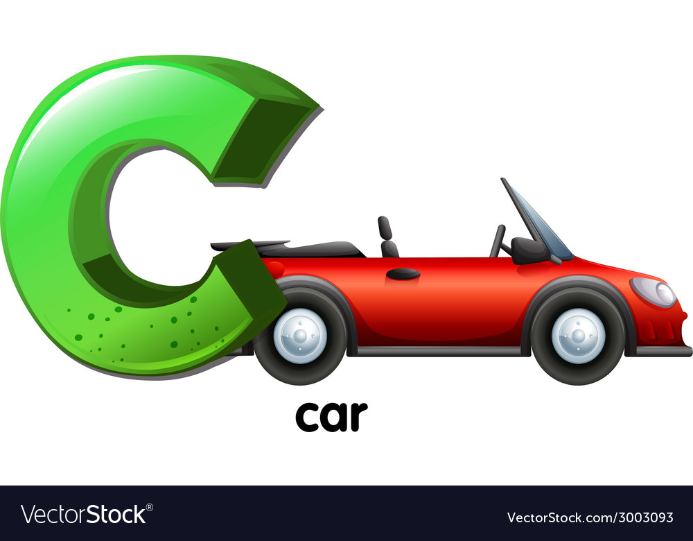 A letter c for car vector | Price: 1 Credit (USD $1)