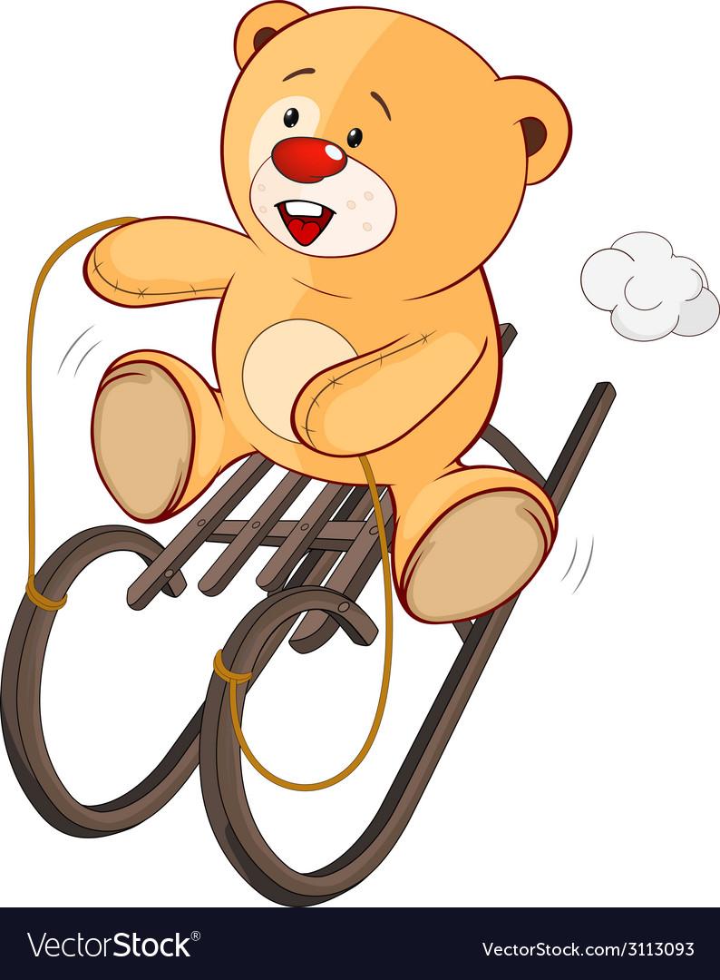 A stuffed toy bear cub cartoon vector   Price: 1 Credit (USD $1)