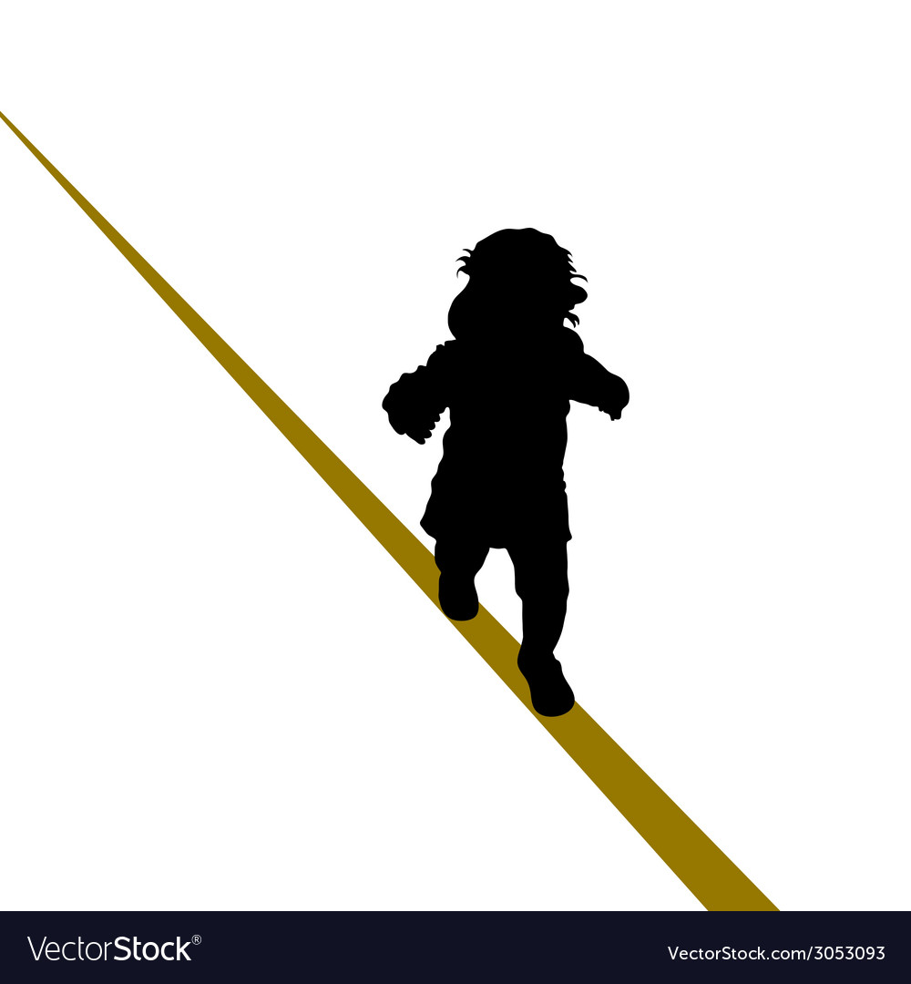Baby walking a tightrope vector | Price: 1 Credit (USD $1)