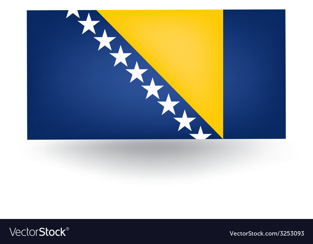 Bosnia and herzegovina flag vector | Price: 1 Credit (USD $1)