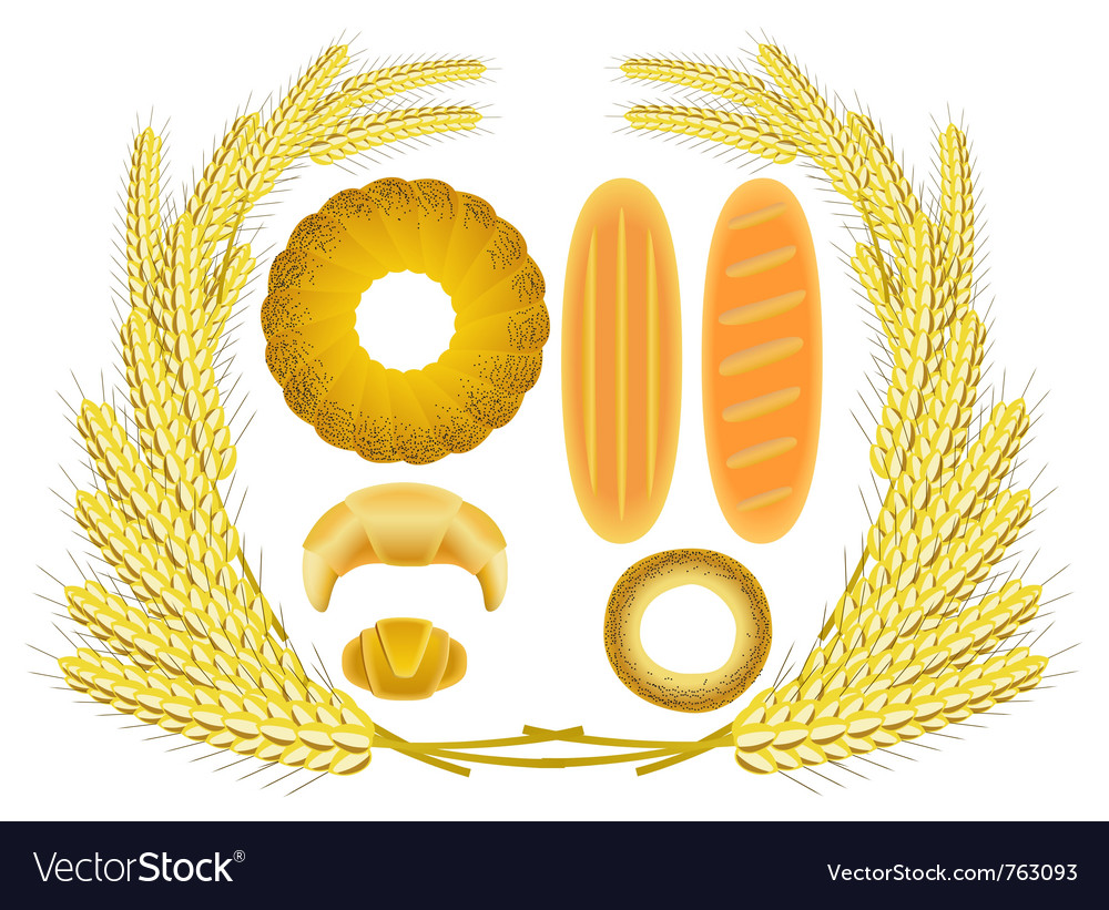 Bread and ears of wheat vector | Price: 1 Credit (USD $1)