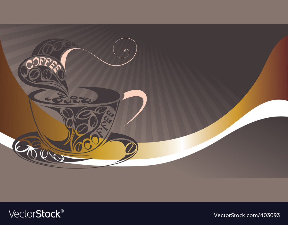 Coffee cup design with beans vector | Price: 1 Credit (USD $1)