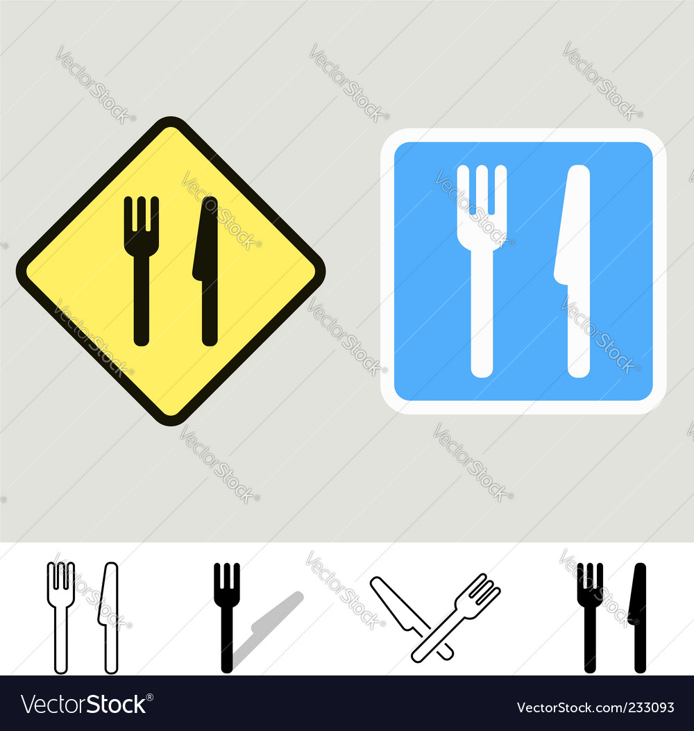 Dining signs vector | Price: 1 Credit (USD $1)