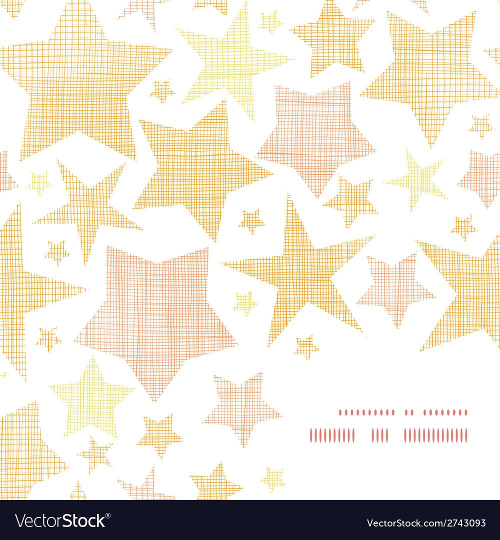 Golden stars textile textured frame corner pattern vector | Price: 1 Credit (USD $1)