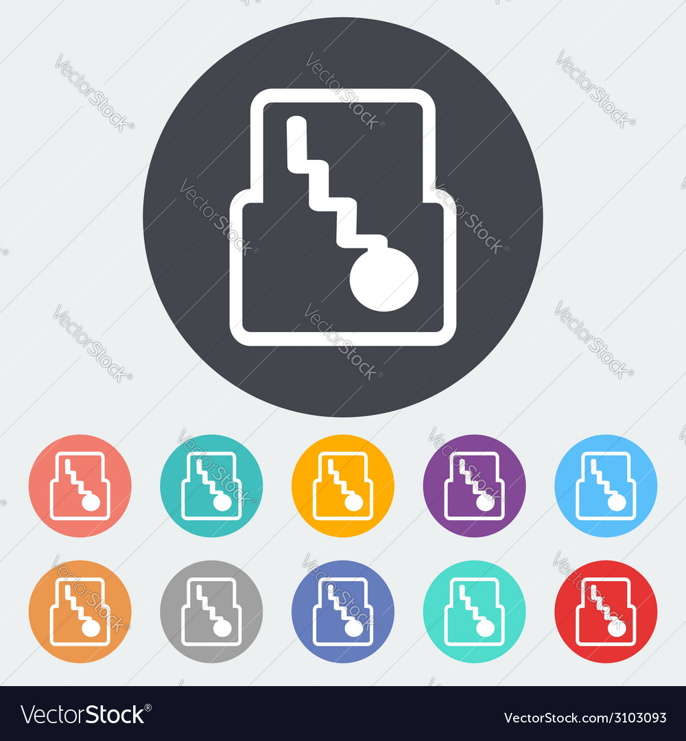 Icon automatic gear vector | Price: 1 Credit (USD $1)