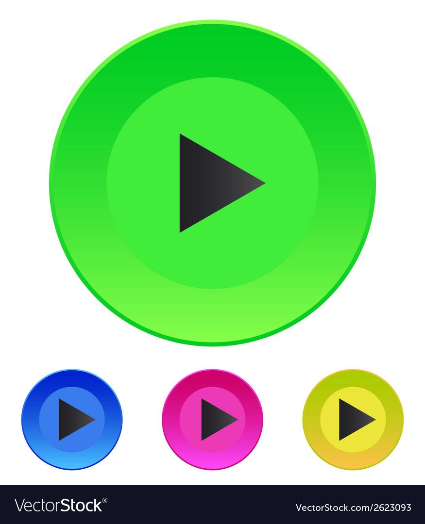 Icon play button web icon vector | Price: 1 Credit (USD $1)