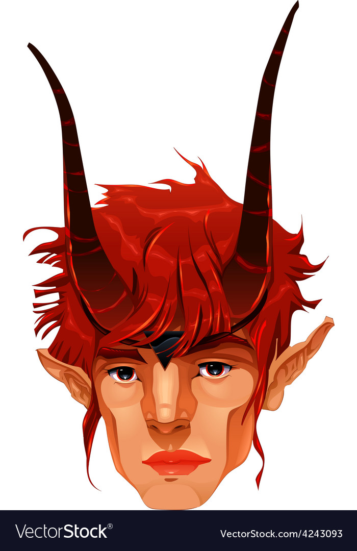 Mythological demon head vector | Price: 1 Credit (USD $1)