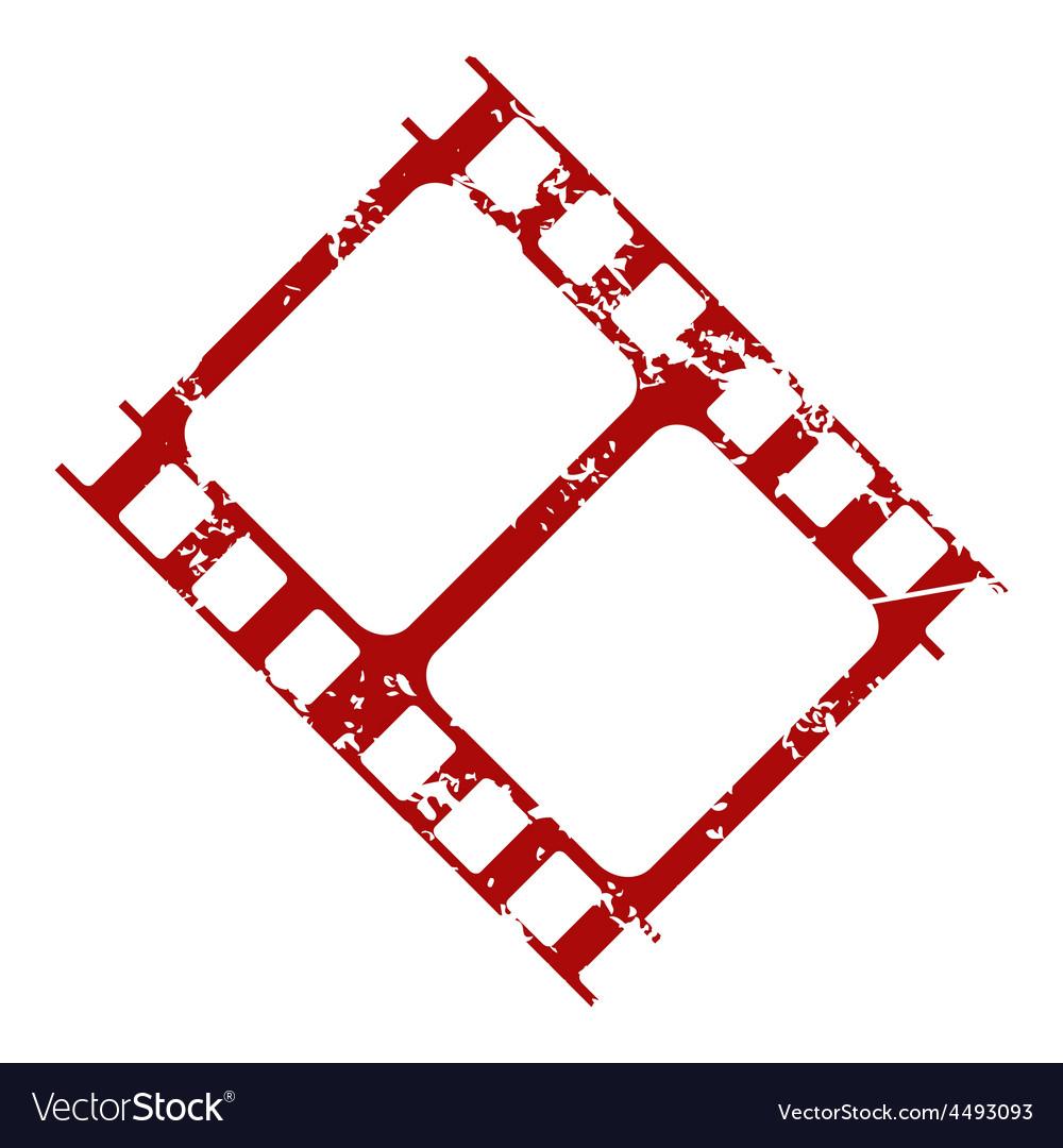 Red grunge film logo vector | Price: 1 Credit (USD $1)