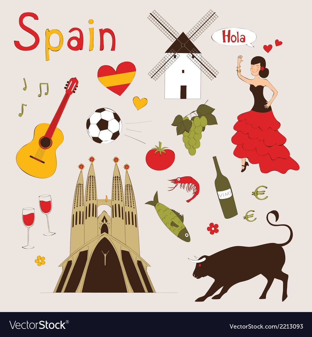 Spain set vector | Price: 1 Credit (USD $1)