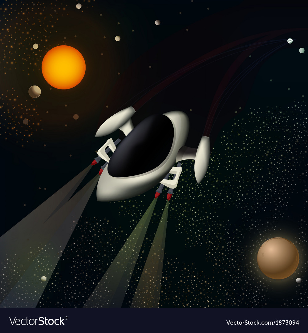 A spacecraft vector | Price: 1 Credit (USD $1)