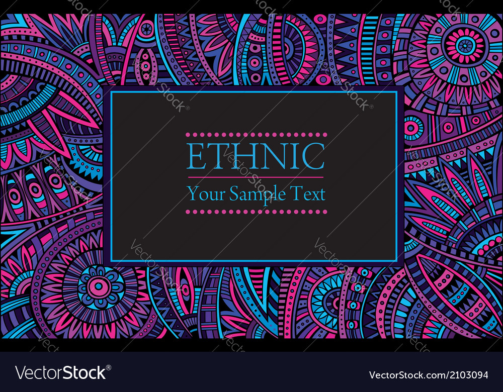 Abstract ethnic patterns border vector | Price: 1 Credit (USD $1)