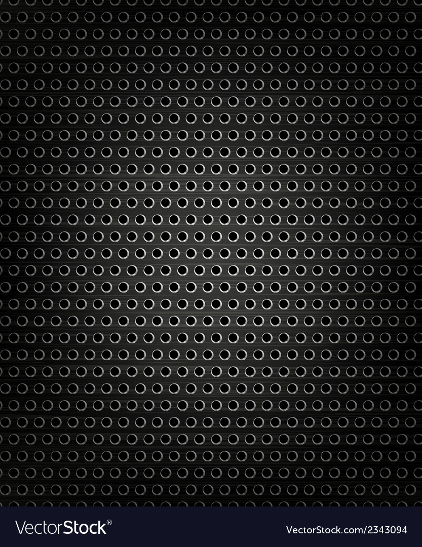 Black speaker grill metal background vector | Price: 1 Credit (USD $1)