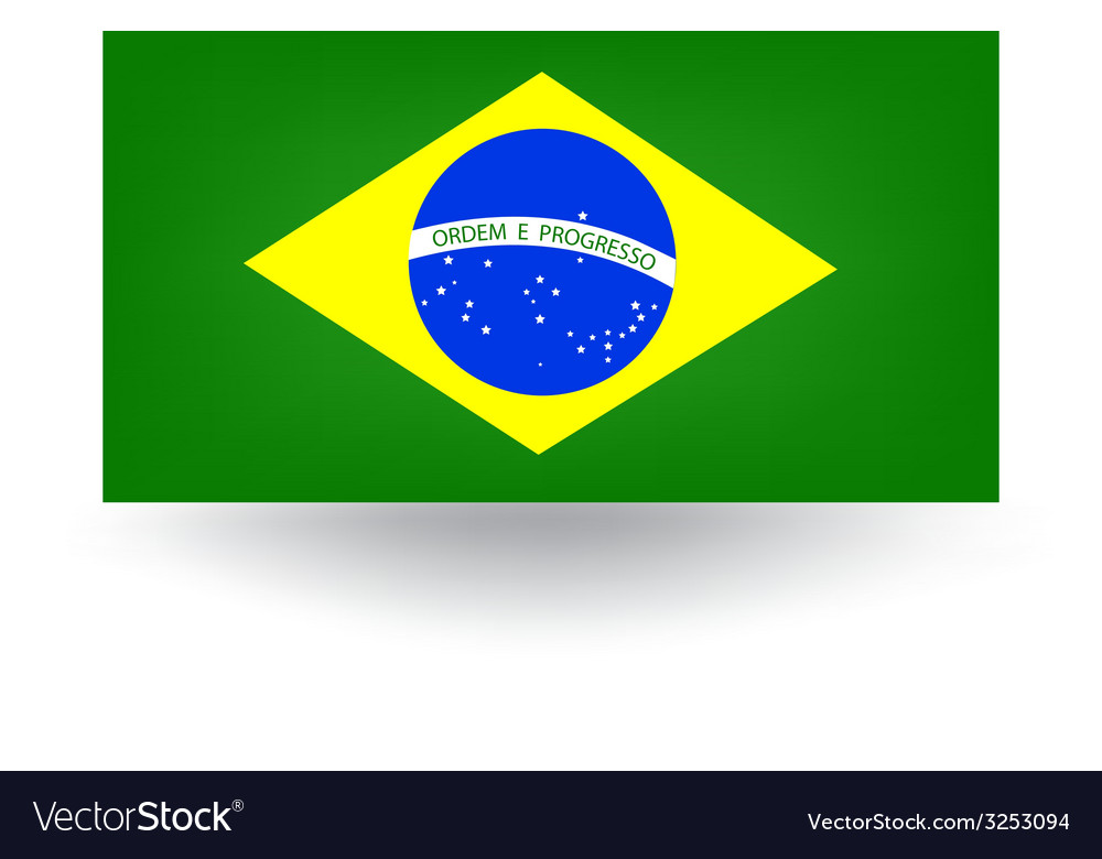 Brazilian flag vector | Price: 1 Credit (USD $1)