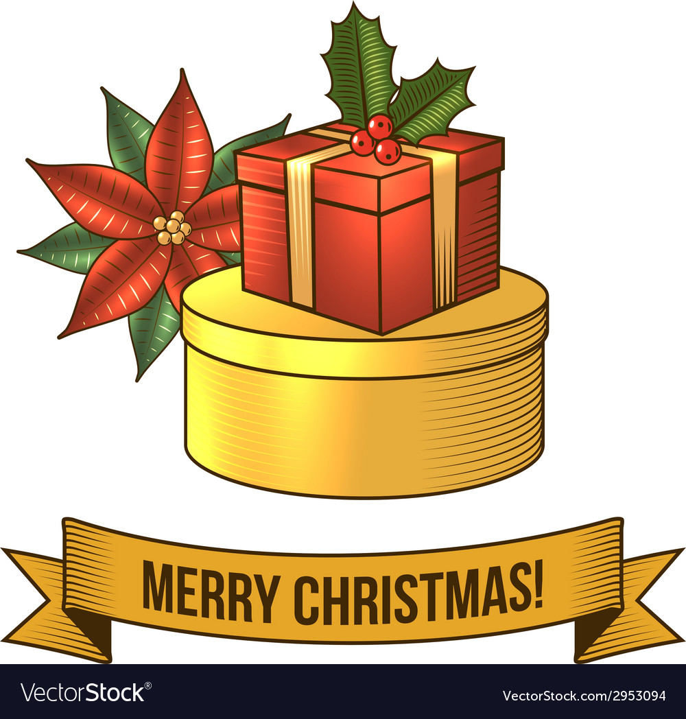 Christmas gift box icon vector | Price: 1 Credit (USD $1)