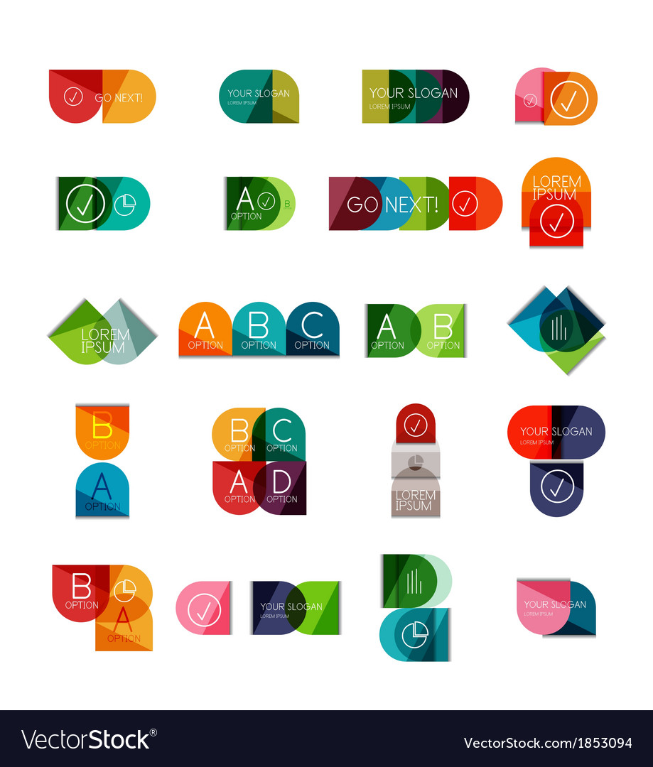 Collection of semicircle infographic templates vector | Price: 1 Credit (USD $1)