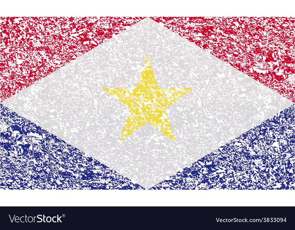 Flag of saba with old texture vector | Price: 1 Credit (USD $1)