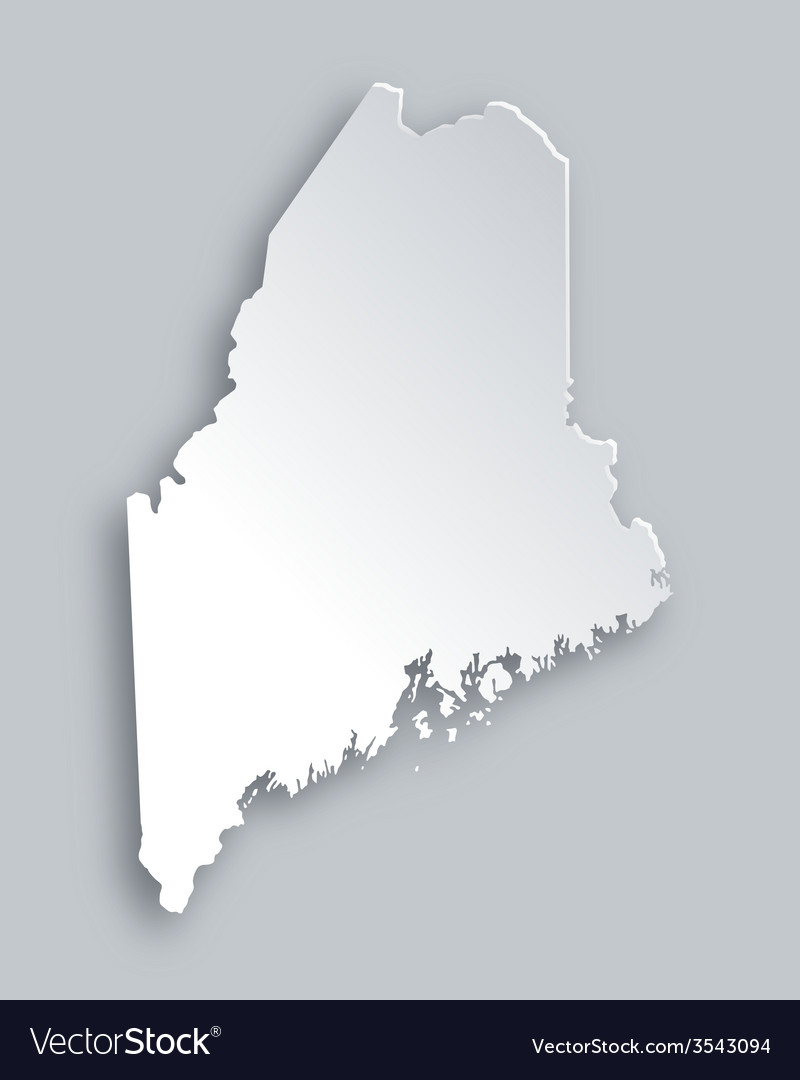 Map of maine vector | Price: 1 Credit (USD $1)