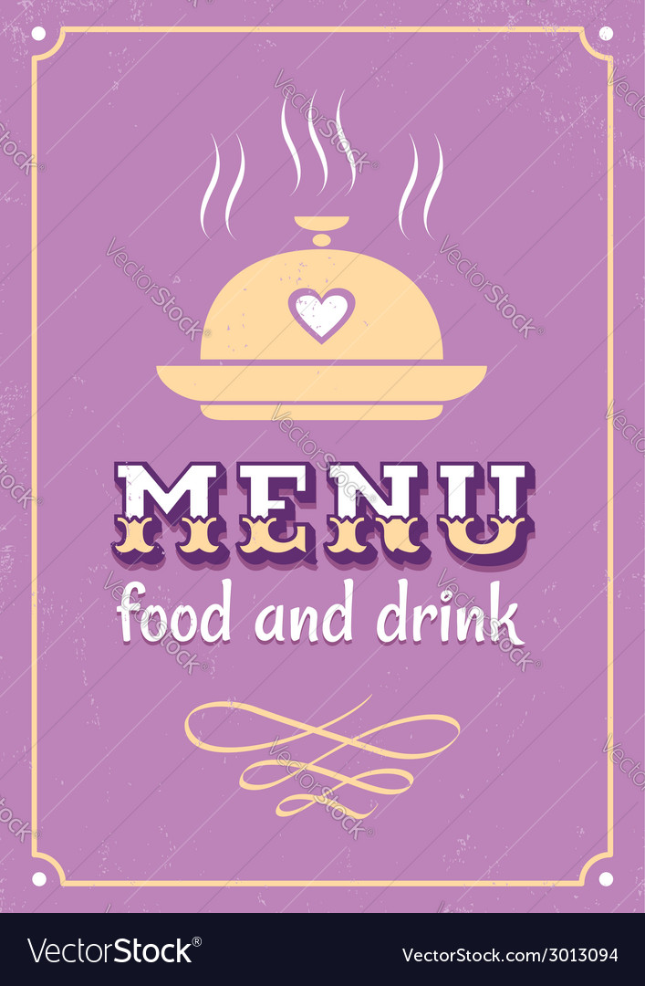 Menu western style vector | Price: 1 Credit (USD $1)
