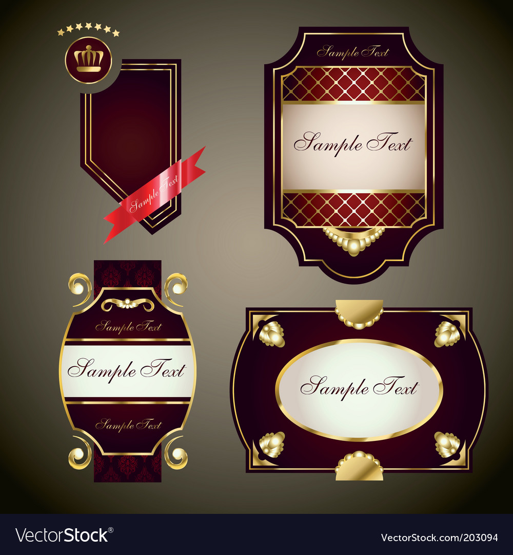 Royal labels set vector | Price: 3 Credit (USD $3)