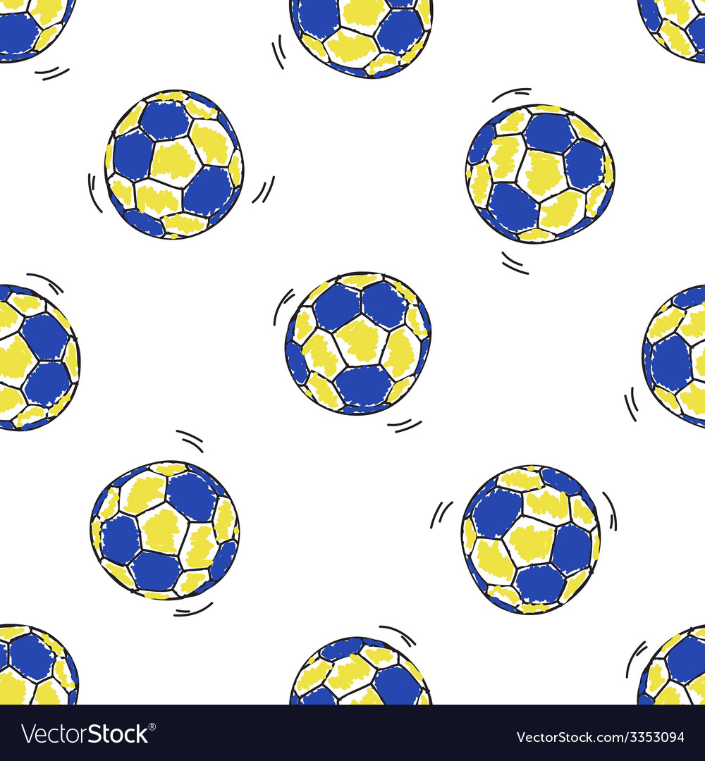 Seamless pattern with handball balls vector | Price: 1 Credit (USD $1)