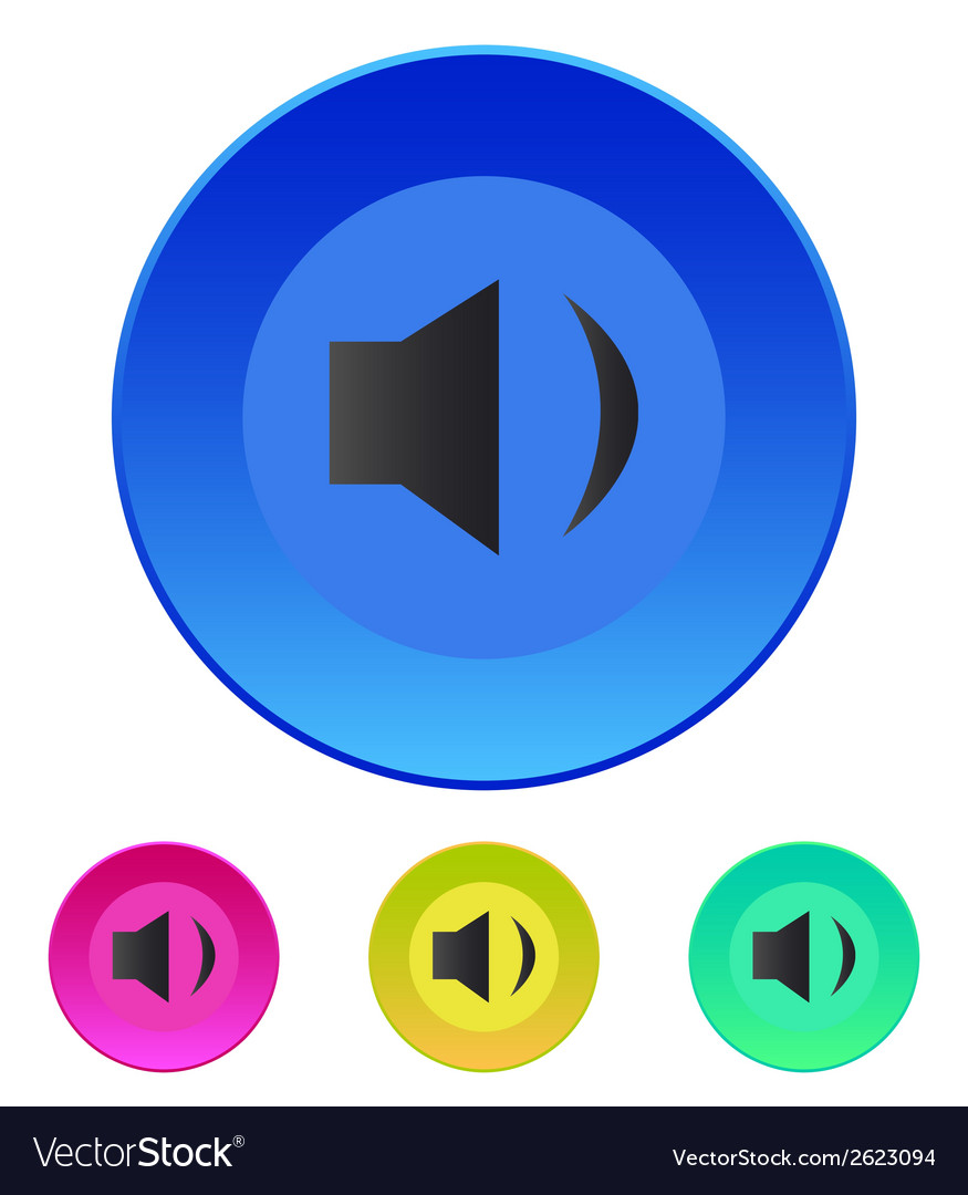 Speaker icon volume min vector | Price: 1 Credit (USD $1)