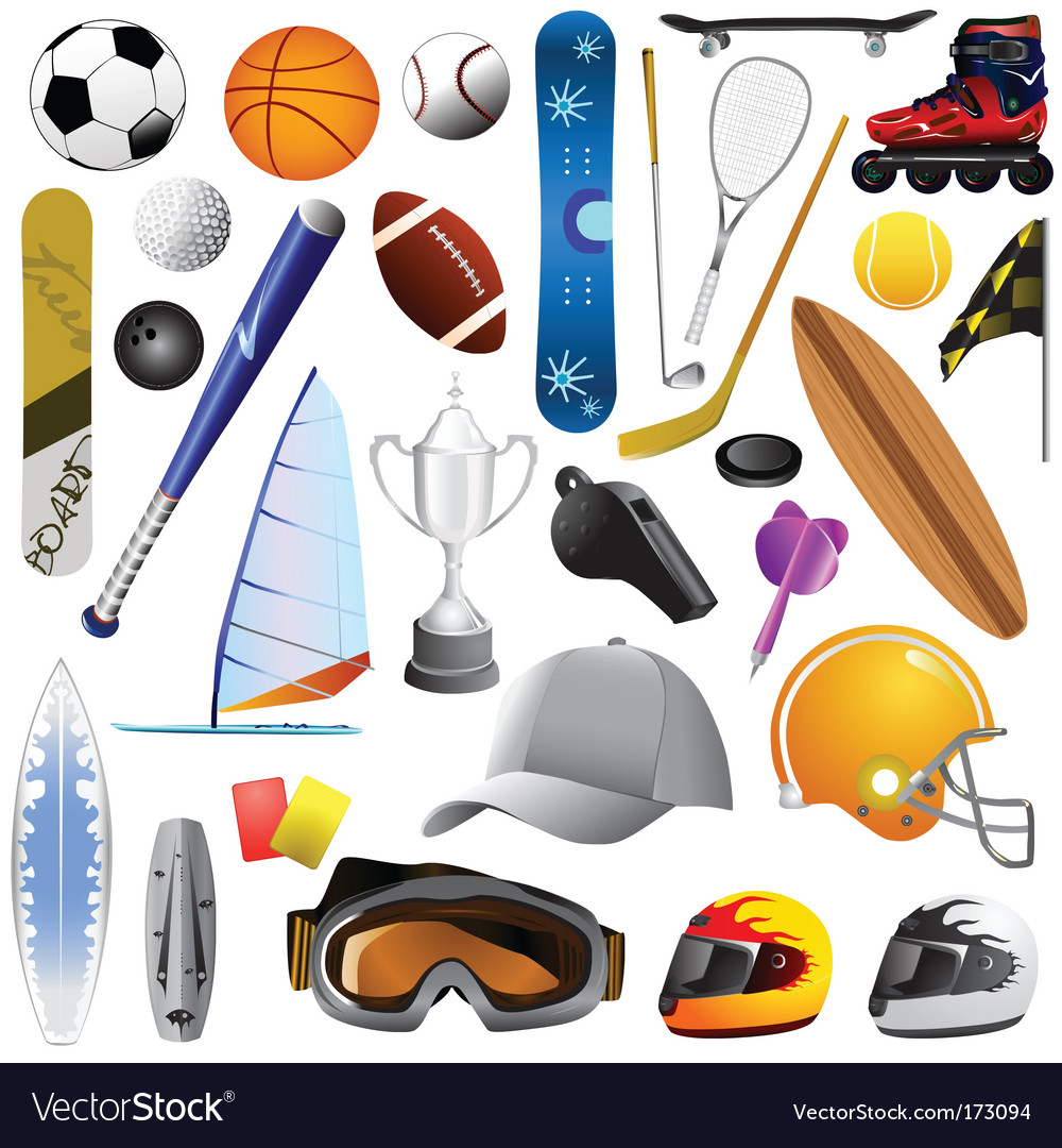Sport objects vector | Price: 3 Credit (USD $3)