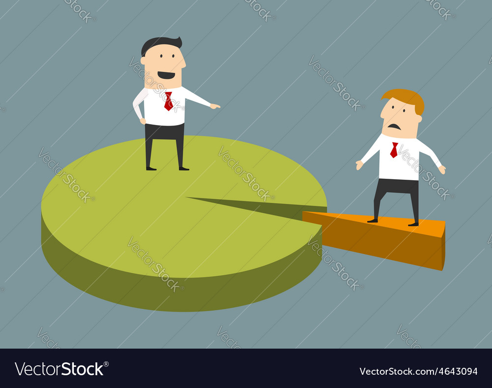 Successful and struggling businessman concept vector | Price: 1 Credit (USD $1)