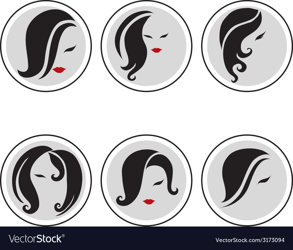 Woman hair pics 3 vector | Price: 1 Credit (USD $1)