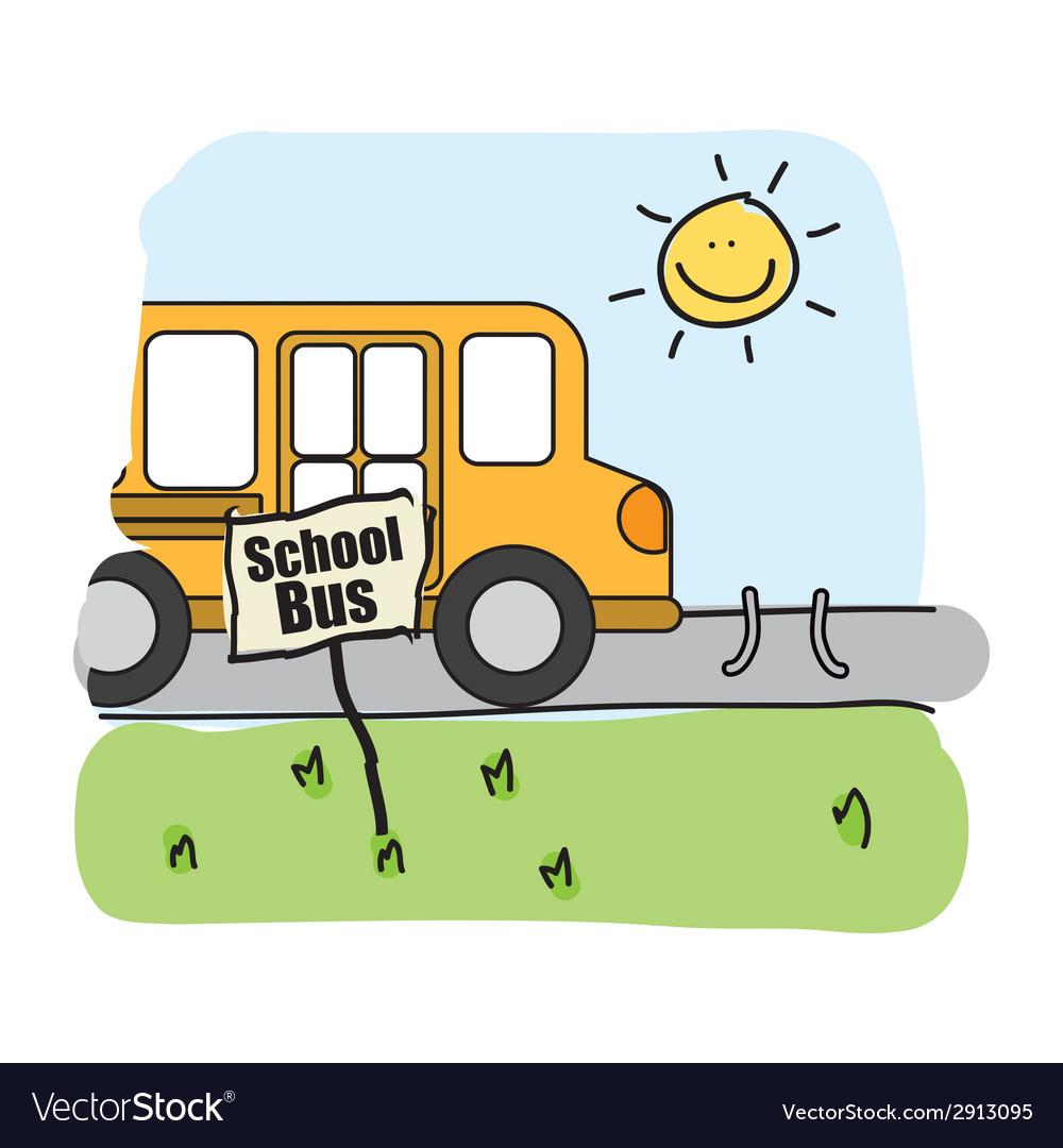 Bus school design vector   Price: 1 Credit (USD $1)