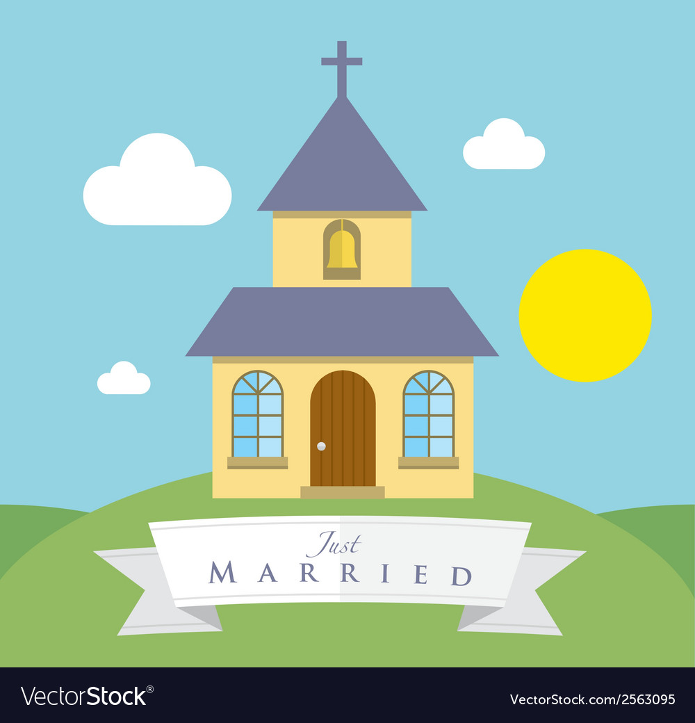 Chapel on the hill vector | Price: 1 Credit (USD $1)
