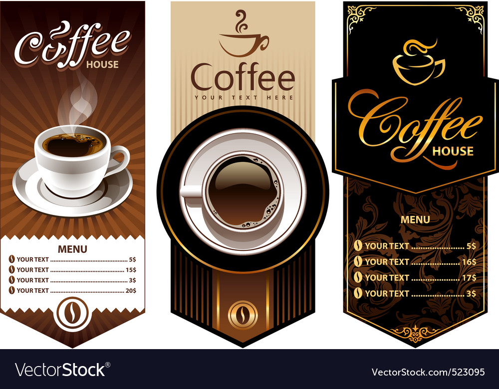 Coffee templates vector | Price: 3 Credit (USD $3)