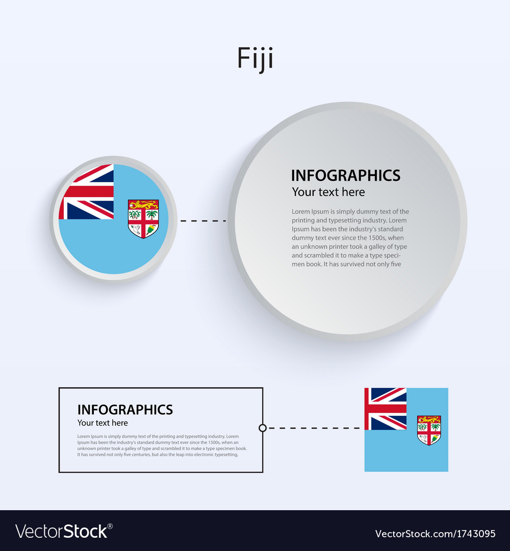 Fiji country set of banners vector | Price: 1 Credit (USD $1)