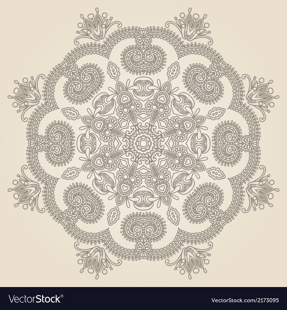 Geometric doily pattern vector | Price: 1 Credit (USD $1)