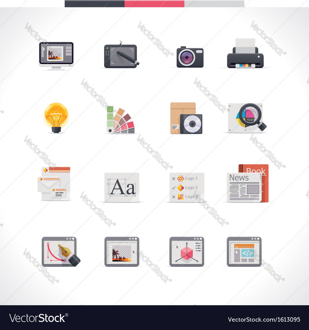 Graphic design icon set vector | Price: 1 Credit (USD $1)