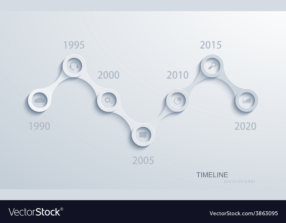 Modern timeline infographic vector | Price: 1 Credit (USD $1)