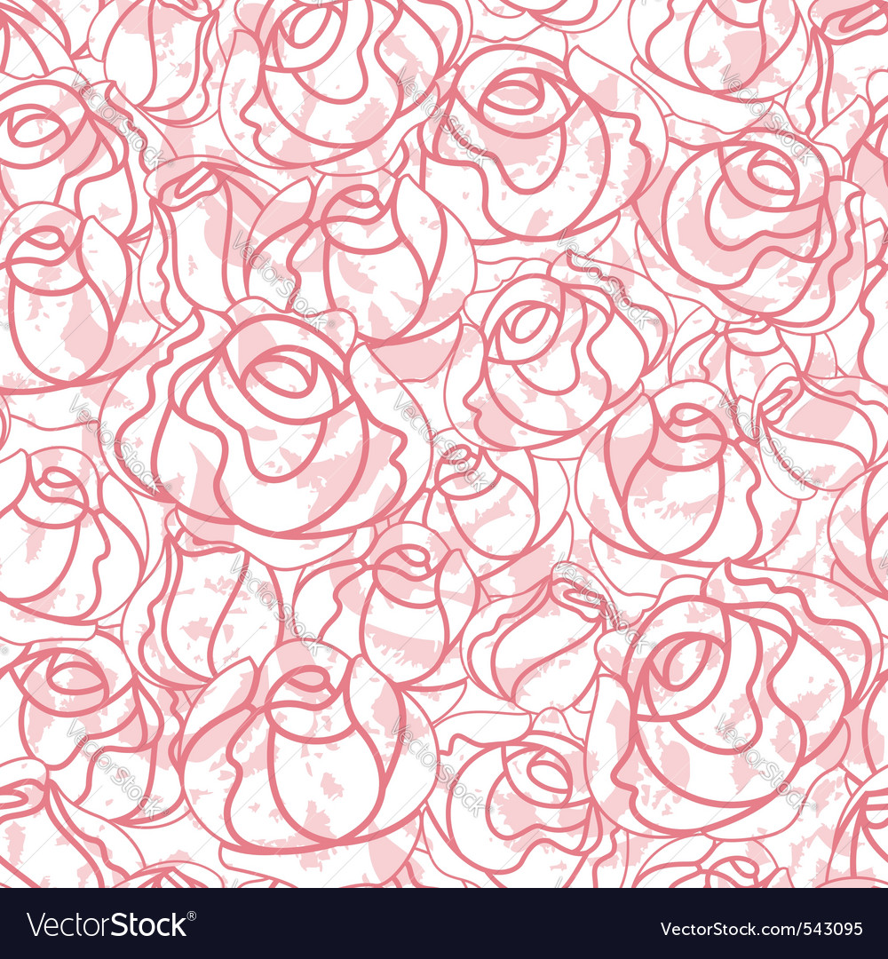 Seamless roses pattern backdrop vector | Price: 1 Credit (USD $1)